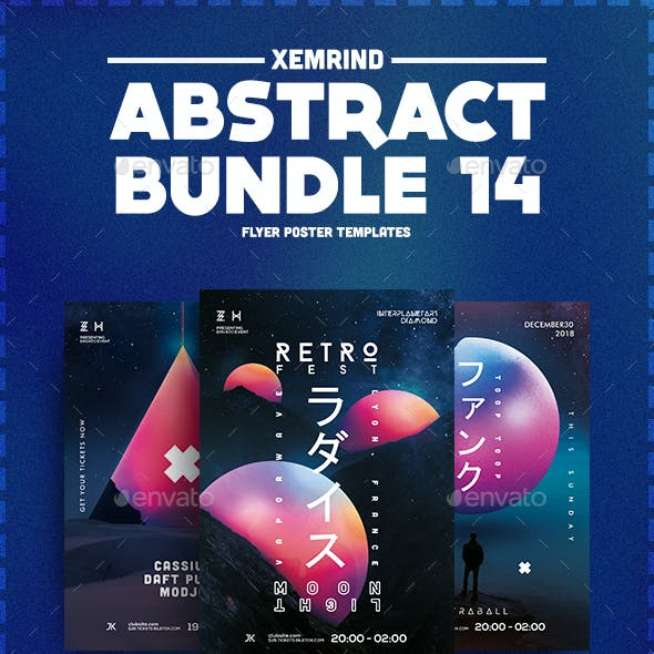 Abstract Flyer/Poster Template Bundle 14