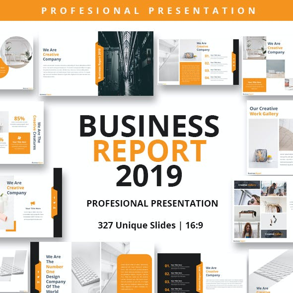 Business Report 2019 Powerpoint Presentation Template