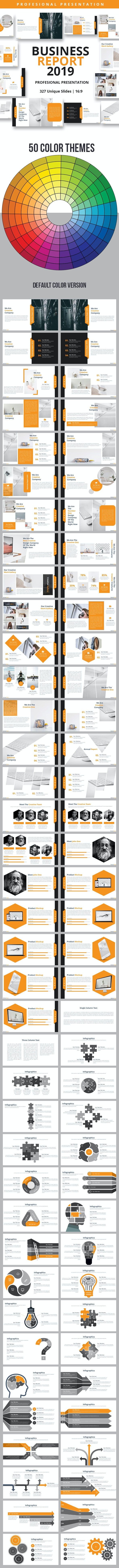 Business Report 2019 Powerpoint Presentation Template - Business PowerPoint Templates