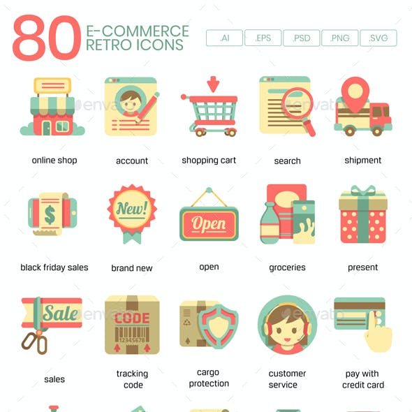 Ecommerce Icons - Retro