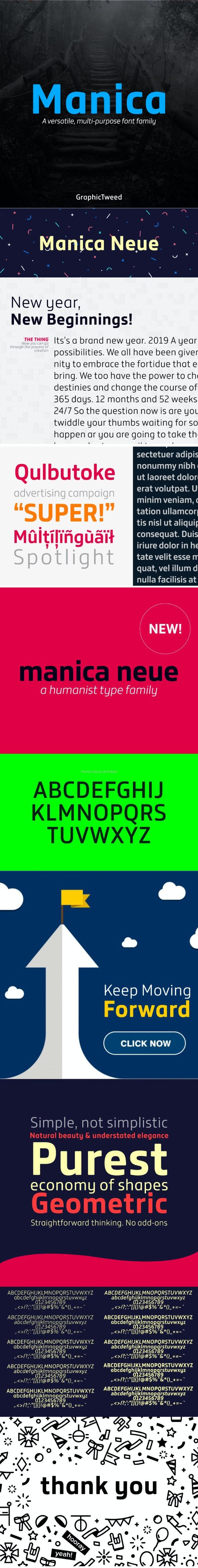 Manica Neue Sans Font - Miscellaneous Sans-Serif