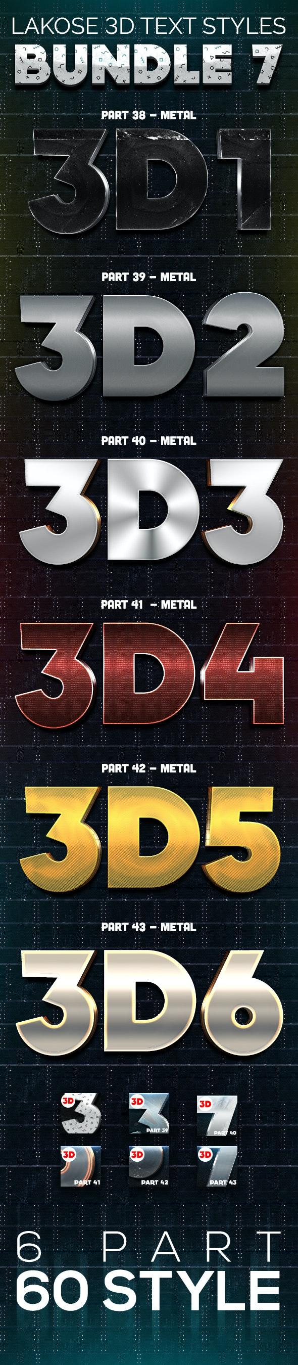 Lakose 3D Text Styles Bundle 7 - Text Effects Styles