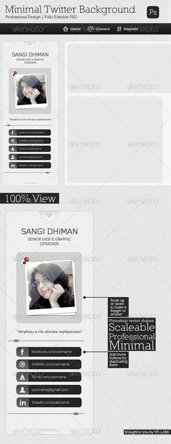 Minimal Twitter Background - Twitter Social Media