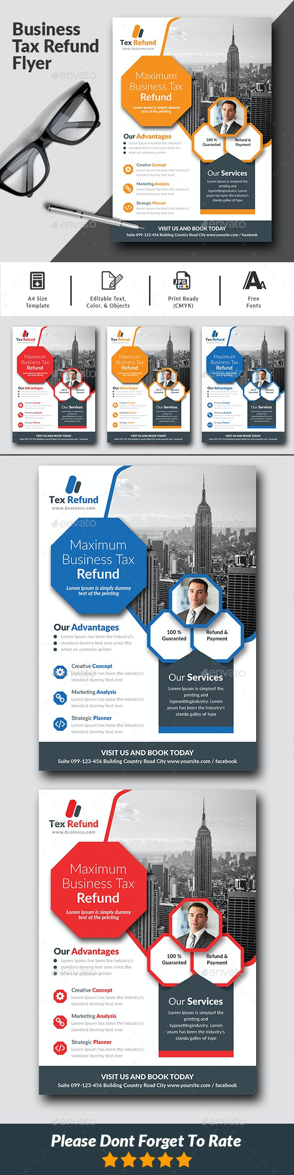 Business Tax Refund Flyer - Corporate Flyers