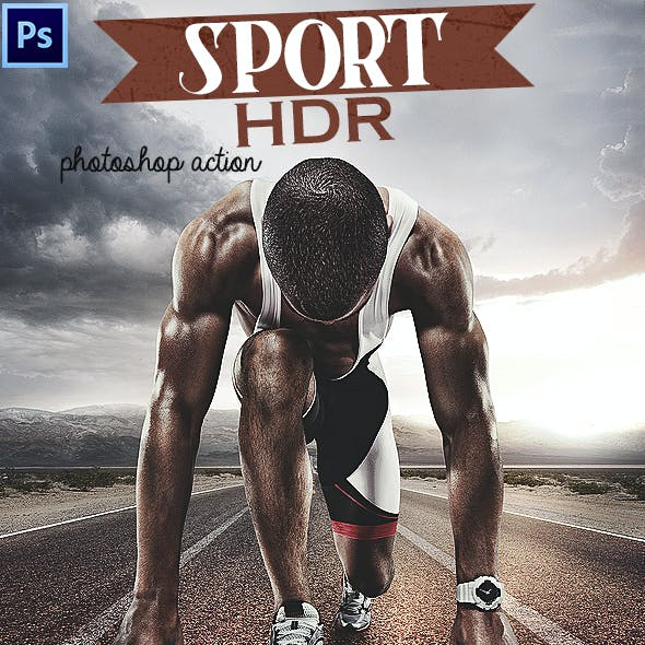 Sport HDR Photoshop Action