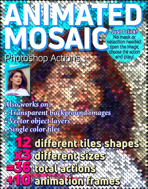 Animated Mosaic Photoshop Actions