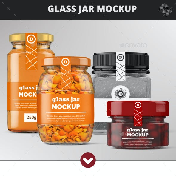Glass Jars Mock-Up