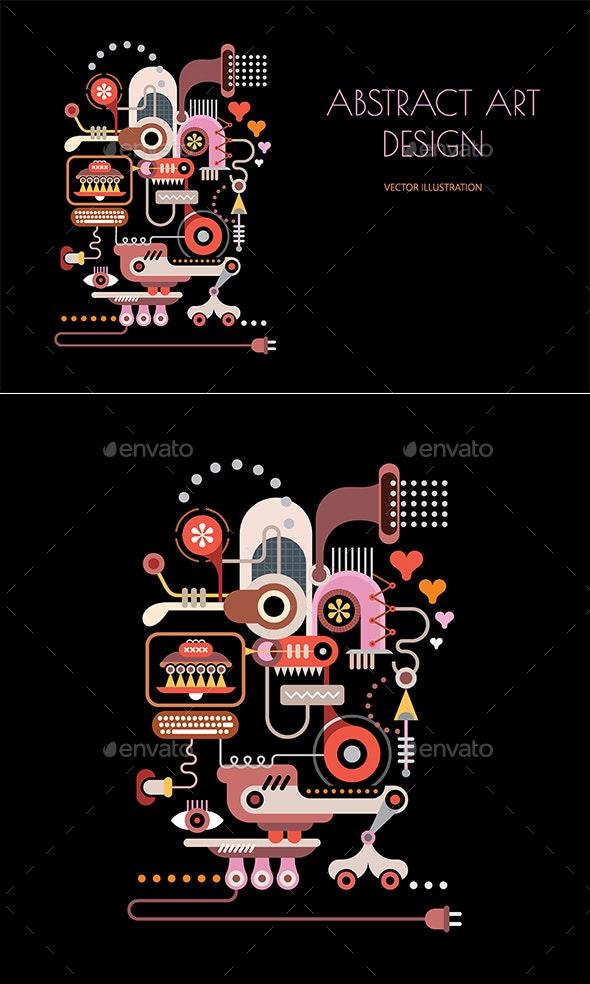 Abstract Art Design - Decorative Symbols Decorative