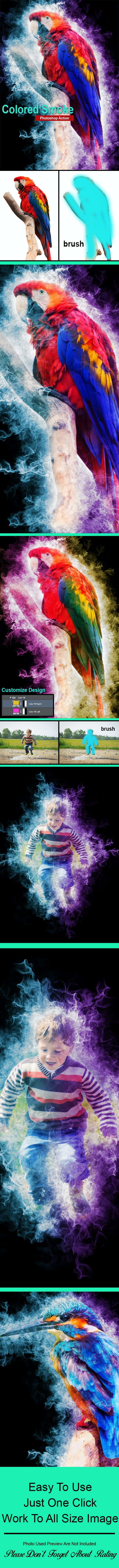 Colored Smoke Photoshop Action - Actions Photoshop