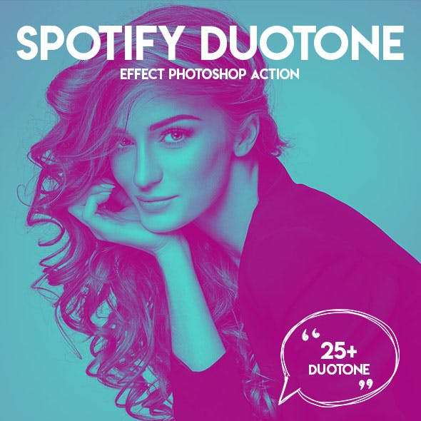 Spotify Duotone Effect Photoshop Action