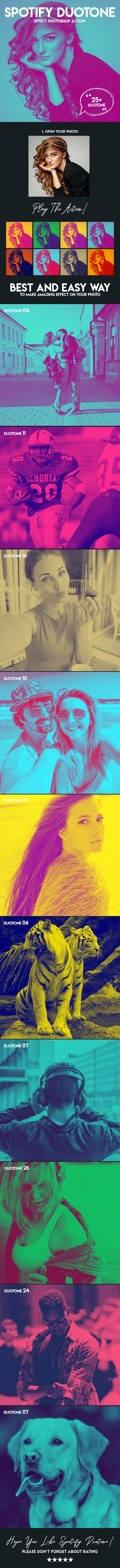 Spotify Duotone Effect Photoshop Action - Photo Effects Actions