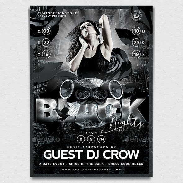 Black Nights Flyer Template V1