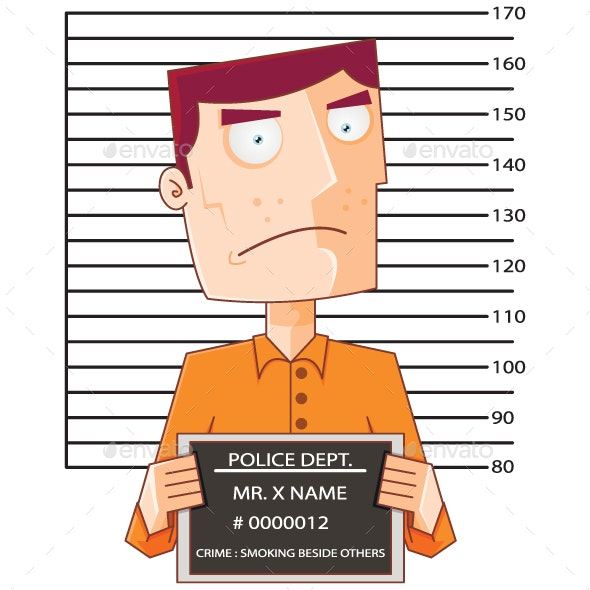 Prisoner Number Twelve with Police Data Board - People Characters