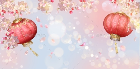 Traditional Spring Festival Background - Seasons Nature