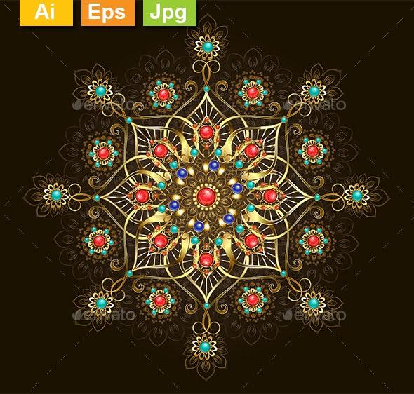 Jewelry Mandala - Decorative Symbols Decorative