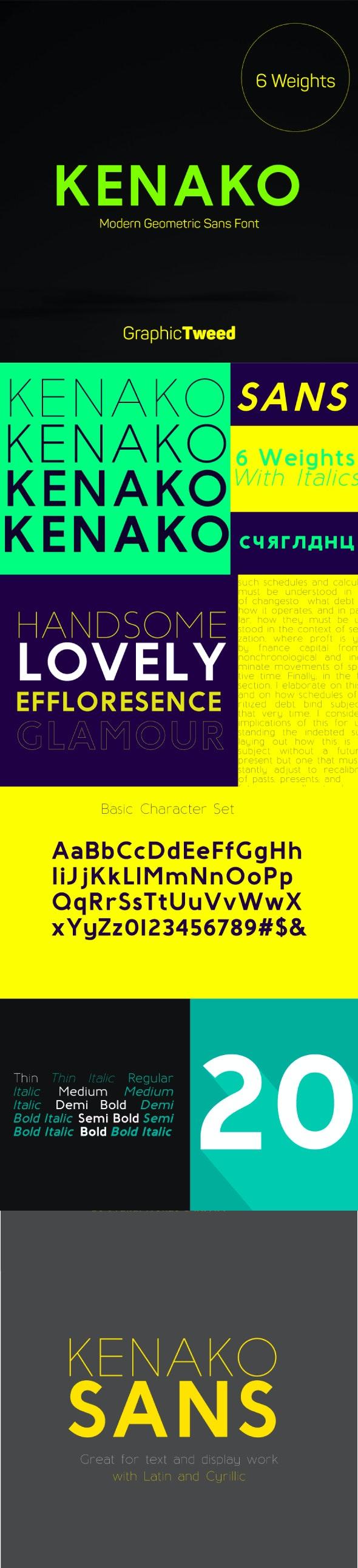 Kenako Sans Font - Miscellaneous Sans-Serif