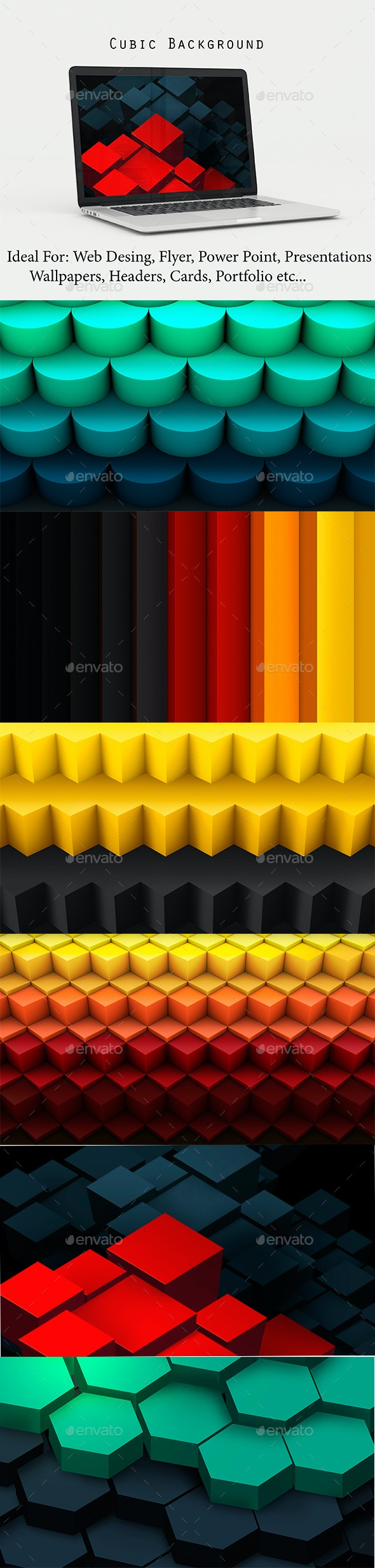 Cubic Background - Abstract Backgrounds