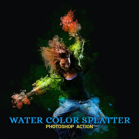 Water Color Splatter Photoshop Action