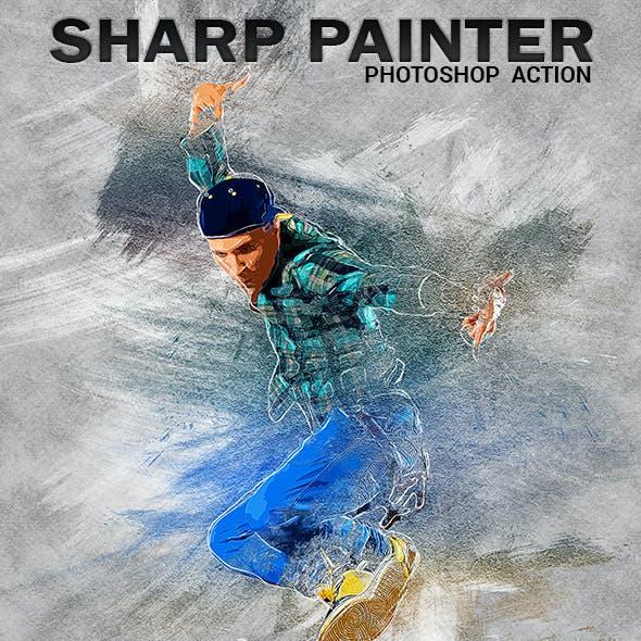 Sharp Painter Photoshop Action