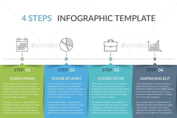 Infographic Template with 4 Elements - Infographics