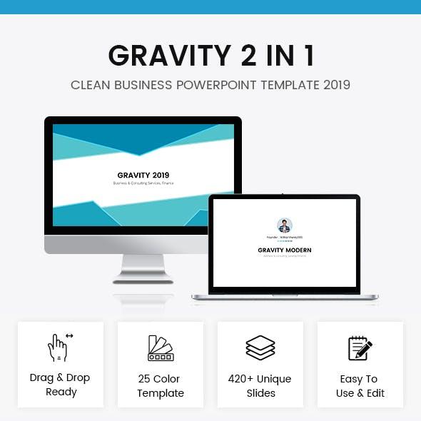 Gravity 2 In 1 Powerpoint Template 2019 Bundle