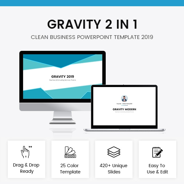 Gravity 2 In 1 Powerpoint Template 2019 Bundle - Business PowerPoint Templates