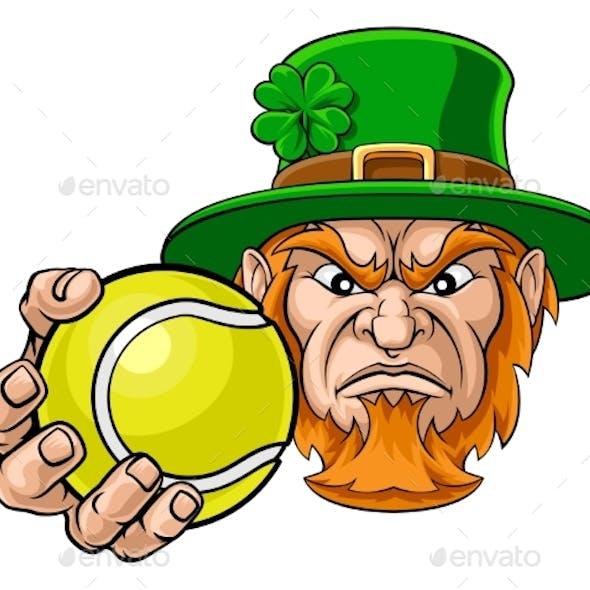 Leprechaun Holding Tennis Ball Sports Mascot