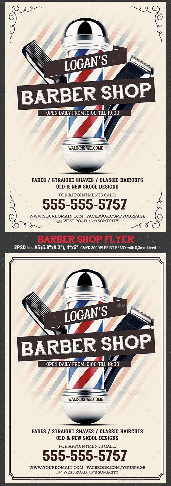 Barber Shop Flyer Template - Flyers Print Templates