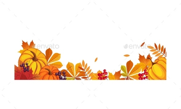 Thanksgiving Banner with Space for Text - Backgrounds Decorative