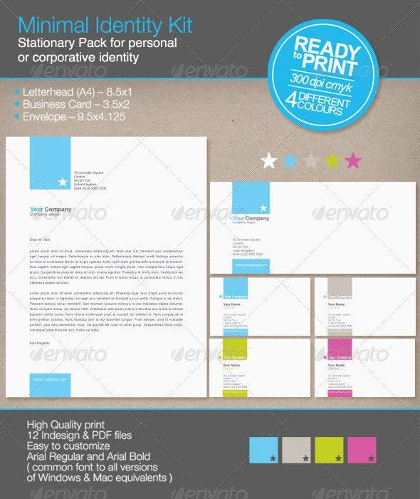 Minimal Identity Kit - Stationery Print Templates