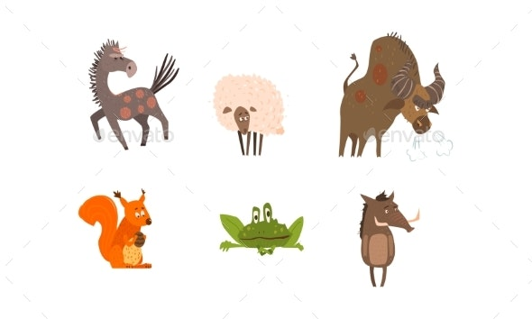 Collection of Farm and Forest Animals - Animals Characters