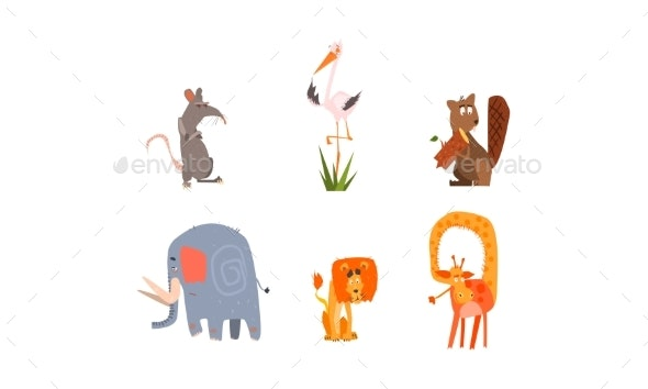 Collection of Forest and African Animals - Animals Characters