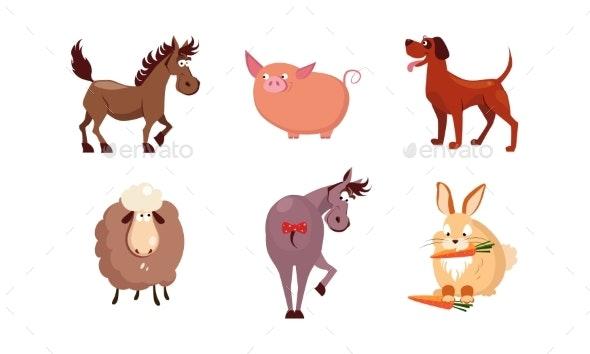 Cartoon Farm Animals Set - Animals Characters
