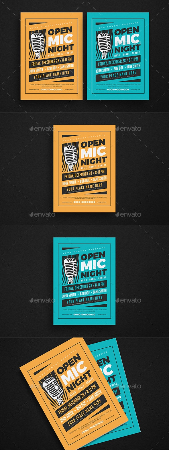 Open Mic Night Event Flyer - Events Flyers