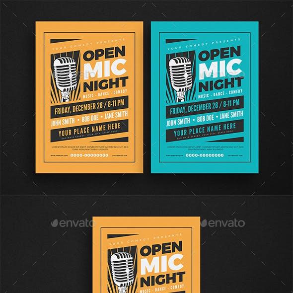 Open Mic Night Event Flyer
