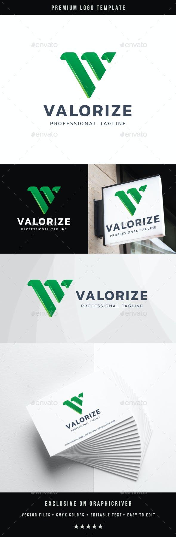 Letter V - Valorize Logo