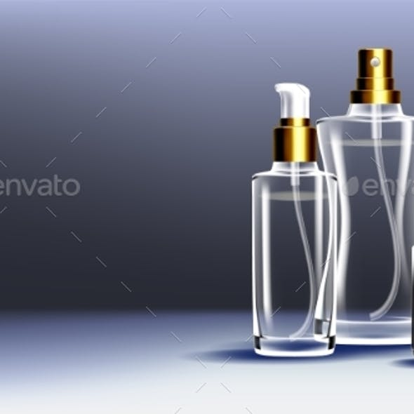 Cosmetic Glass Ads Vector