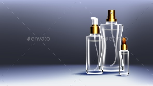Cosmetic Glass Ads Vector - Man-made Objects Objects