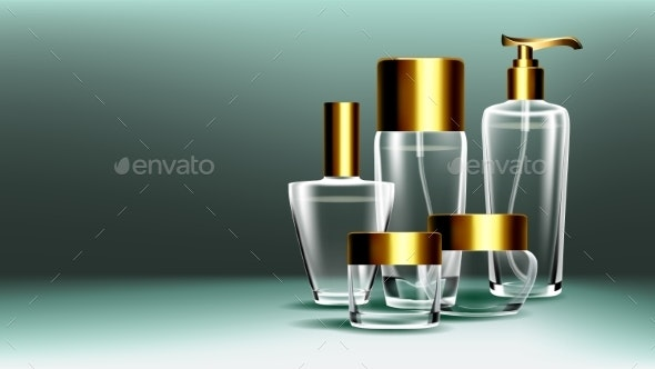 Cosmetic Glass Banner Vector - Man-made Objects Objects