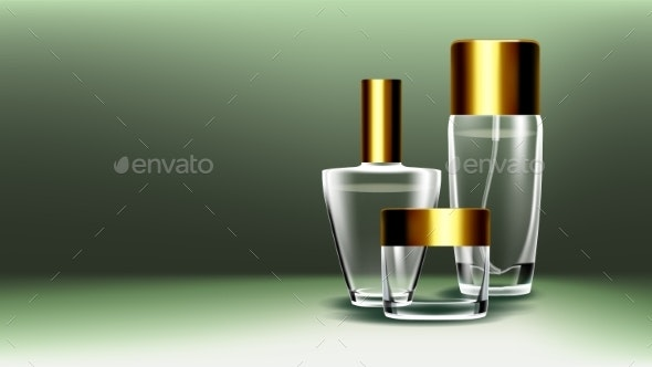 Cosmetic Glass Product Vector - Man-made Objects Objects