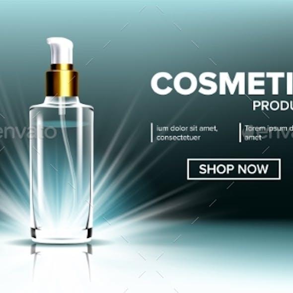 Cosmetic Glass Branding Background Vector