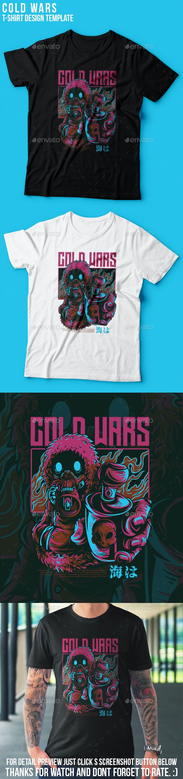 Cold Wars T-Shirt Design - Grunge Designs