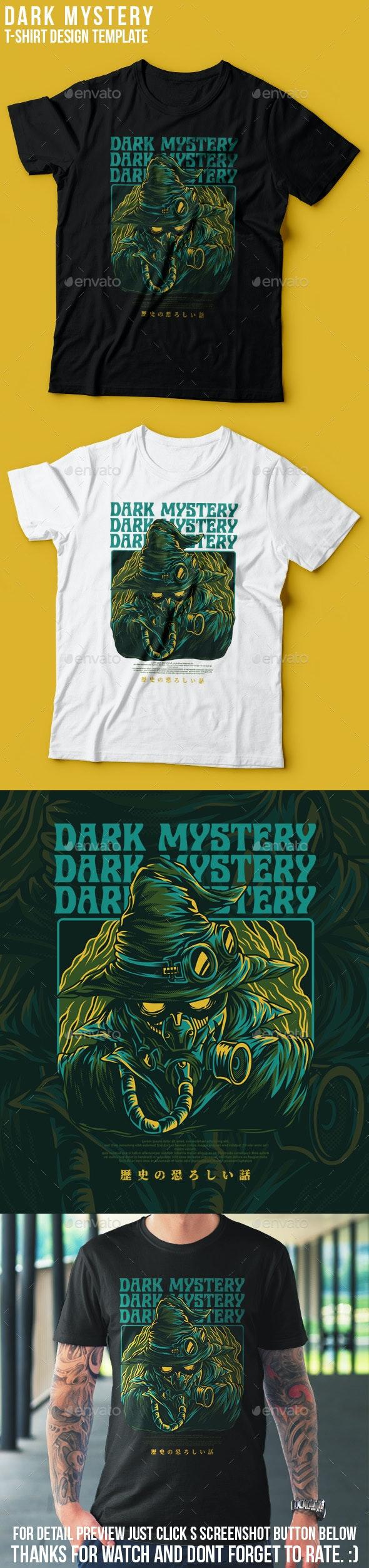 Dark Mystery T-Shirt Design - Grunge Designs