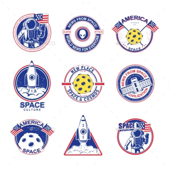 Cosmos Set Illustration - Travel Conceptual