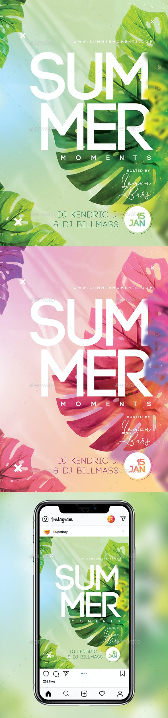 Summer Moments Party Flyer - Clubs & Parties Events