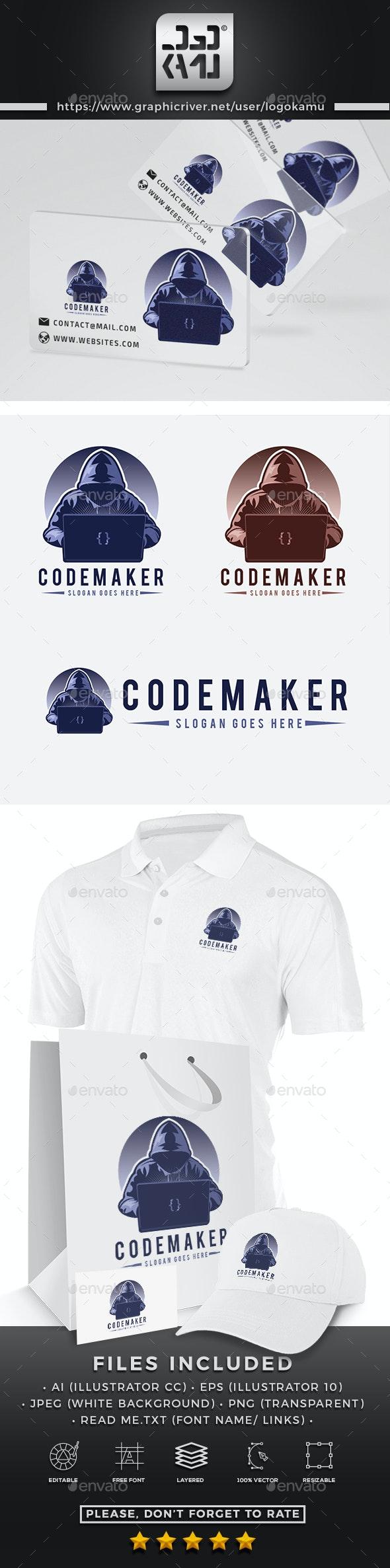 Code Maker Logo - Humans Logo Templates