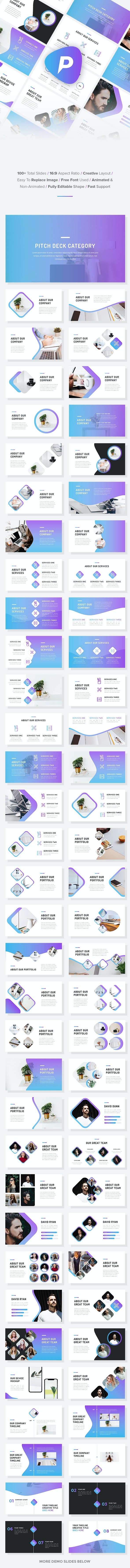 Pitch - Startup Pitch Deck Keynote Template - Business Keynote Templates