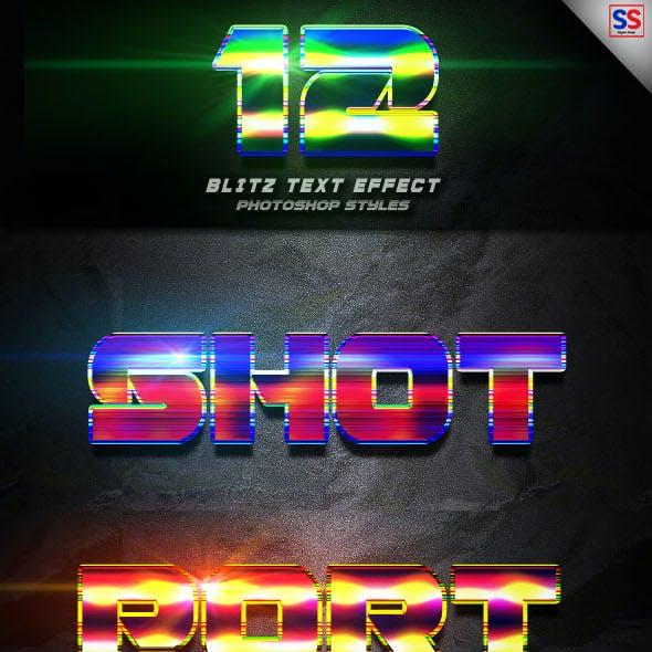 12 Blitz Photoshop text Effect