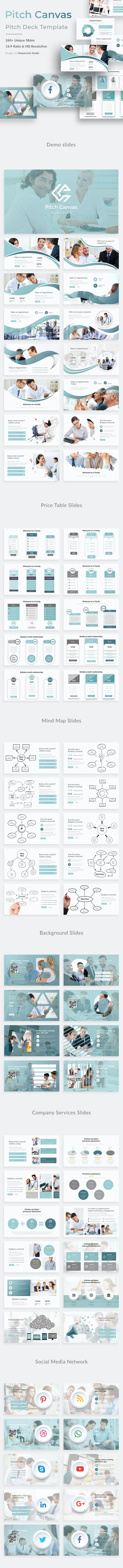 Pitch Canvas Business Keynote Template - Business Keynote Templates