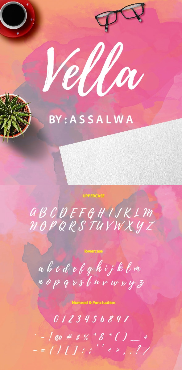 Vella - Handwriting Fonts